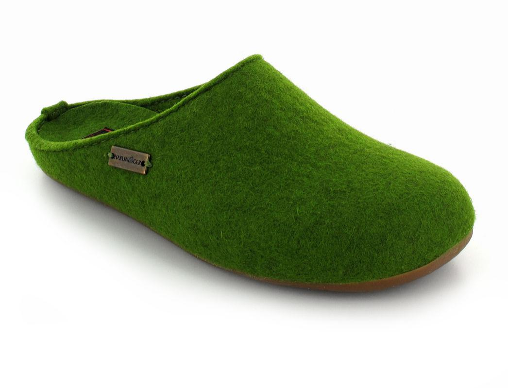 HAFLINGERu00ae Green Slippers | Fundus With Everest Sole In ...
