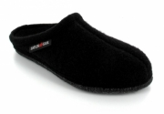 HAFLINGER® Boiled Wool Soft Sole Slipper | Alaska, Black