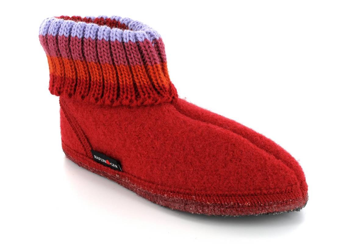 HAFLINGER® Slippers For A Child | Paul, Red